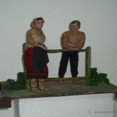 Juguetes antiguos y Juegos de colección: PAREJA ALDEANOS. Lote 46528148