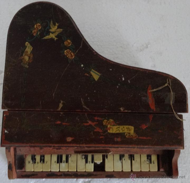 Juguetes antiguos y Juegos de colección: PIANA DE JUGUETE EN MADERA - XXX 153 - Foto 6 - 42979349