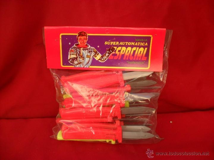 Juguetes antiguos y Juegos de colección: juguete español,años 70-80,superautomatica espacial,navaja retractil,lote de 8,kiosco - Foto 3 - 84645350