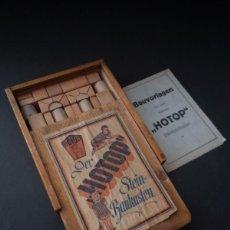 Juguetes antiguos y Juegos de colección - juego construcción -en piedra- circa 1920 - 46737796