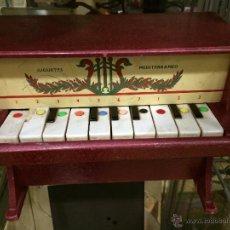 Juguetes antiguos y Juegos de colección: PIANO DE JUGUETE DE MADERA MEDITERRANEO. Lote 47468172
