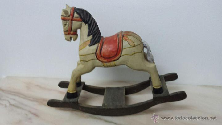 Antiguo caballo balancin de madera a os 40 comprar en - Juguetes antiguos de madera ...