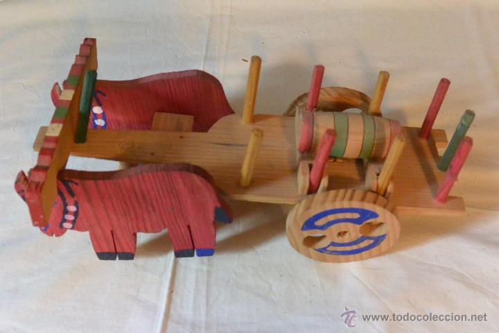 Carro madera tirado por bueyes de juguete comprar en - Jugueteros de madera ...