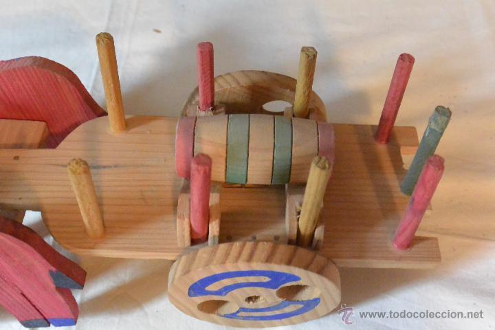 Carro madera tirado por bueyes de juguete comprar en - Juguetes antiguos de madera ...