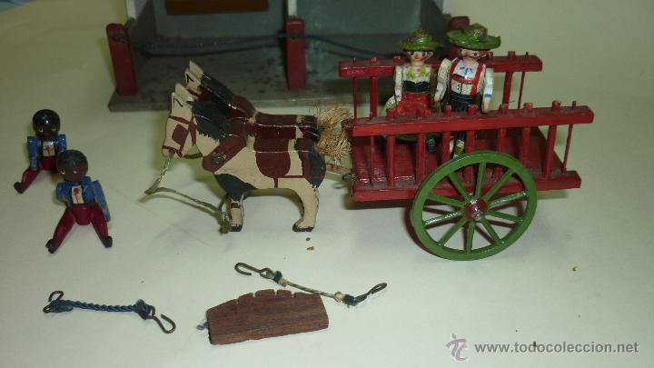 Vendido Antiguo En MiniaturaCarromato Venta Juguete Con Establ Yyb76fg