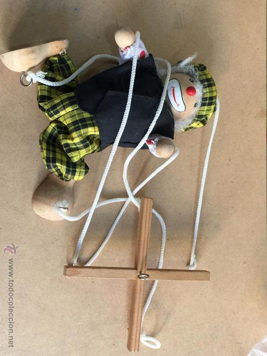 Juguetes antiguos y Juegos de colección: Antigua marioneta payaso madera - Foto 2 - 47980030