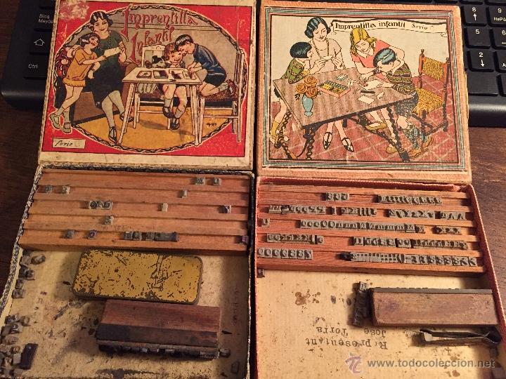 Juguetes antiguos y Juegos de colección: IMPRENTILLA INFANTIL, LOTE DOS. - Foto 2 - 48035740