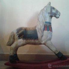 Juguetes antiguos y Juegos de colección: CABALLO BALANCIN DE CARTON PIEDRA. VINTAGE. Lote 48204416