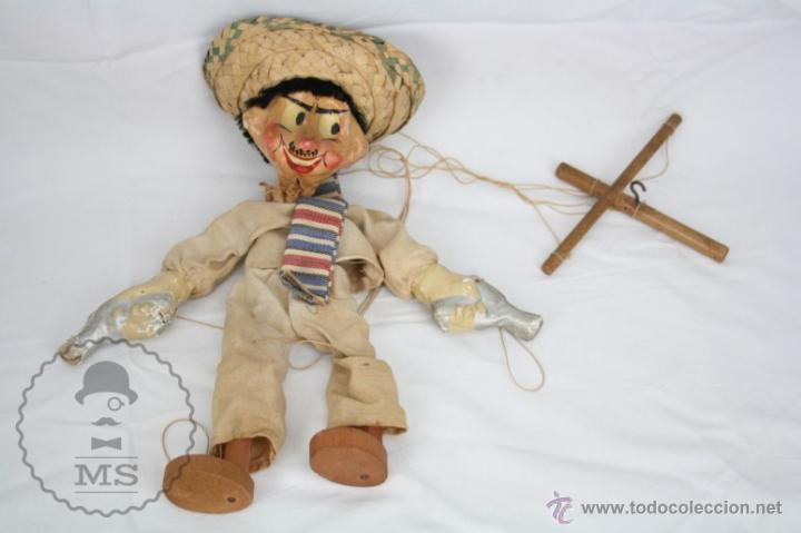 Antigua Marioneta De Carton Piedra Y Madera P Comprar En