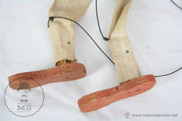 Juguetes antiguos y Juegos de colección: Marioneta de Cartón Piedra y Madera - Hombre Mexicano - Restauración - 39 Cm Altura - Foto 5 - 48569226