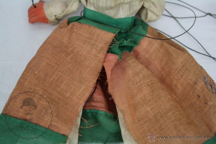 Juguetes antiguos y Juegos de colección: Marioneta de Cartón Piedra y Madera - Mujer Mexicana - Medidas 39 Cm Altura - Foto 8 - 48569357