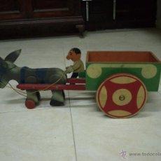 Juguetes antiguos y Juegos de colección: CARRO DE MADERA -DENIA-. Lote 48856468