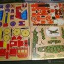 Juguetes antiguos y Juegos de colección: 4 MAQUETAS MONTABLES COMO RECORTABLES ,EN MADERA....PARA CONFECCIONAR DIFERENTES VEHICULOS,. Lote 49065338