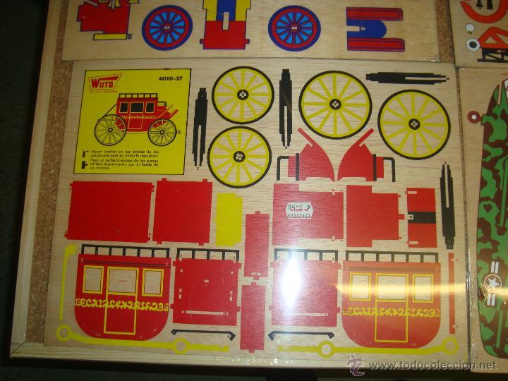 Juguetes antiguos y Juegos de colección: 4 MAQUETAS MONTABLES COMO RECORTABLES ,EN MADERA....PARA CONFECCIONAR DIFERENTES VEHICULOS, - Foto 2 - 51004044