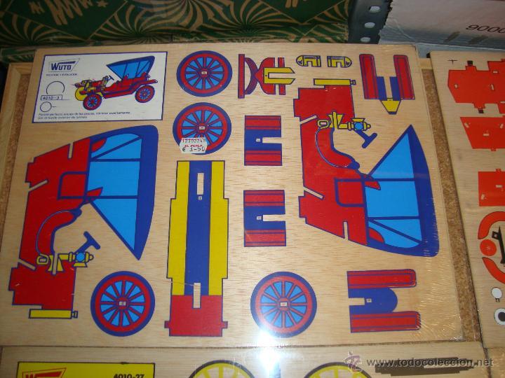Juguetes antiguos y Juegos de colección: 4 MAQUETAS MONTABLES COMO RECORTABLES ,EN MADERA....PARA CONFECCIONAR DIFERENTES VEHICULOS, - Foto 3 - 51004044