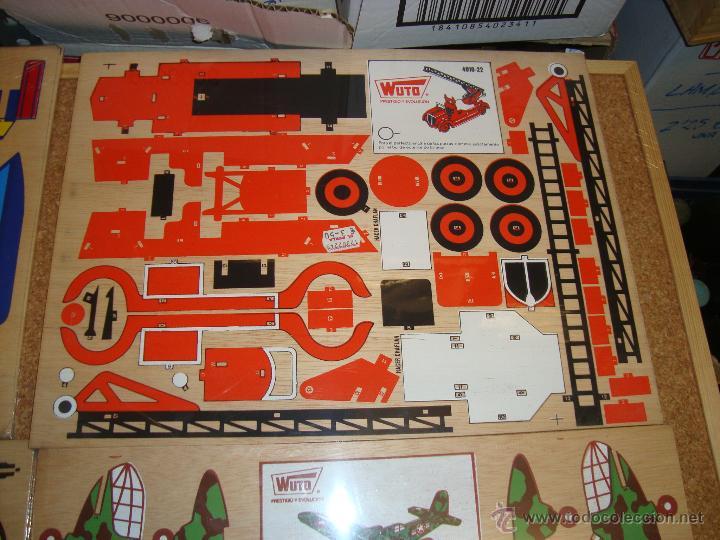 Juguetes antiguos y Juegos de colección: 4 MAQUETAS MONTABLES COMO RECORTABLES ,EN MADERA....PARA CONFECCIONAR DIFERENTES VEHICULOS, - Foto 4 - 51004044