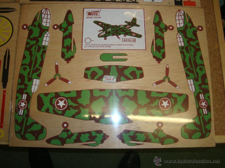 Juguetes antiguos y Juegos de colección: 4 MAQUETAS MONTABLES COMO RECORTABLES ,EN MADERA....PARA CONFECCIONAR DIFERENTES VEHICULOS, - Foto 5 - 51004044