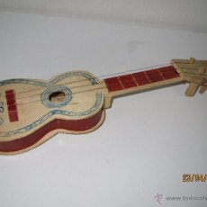 Antigua Guitarra de Juguete de Madera y Cuerdas Metalicas