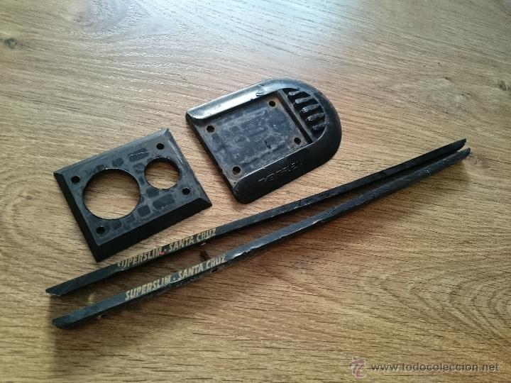 Juguetes antiguos y Juegos de colección: JUego de elevadores y varillas de antiguo monopatin santa cruz superslim variflex - Foto 4 - 49629461