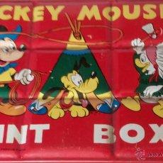 Juguetes antiguos y Juegos de colección: CAJA DE ACUARELAS MICKEY MOUSE. Lote 49671057