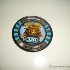 Juguetes antiguos y Juegos de colección: SLINGERS WAR TITANS TAZO CHAPA METALICA MINOTAUR 10. Lote 50229666