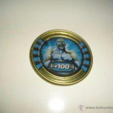 Juguetes antiguos y Juegos de colección: SLINGERS WAR TITANS TAZO CHAPA METALICA JUPITER 56. Lote 50229684