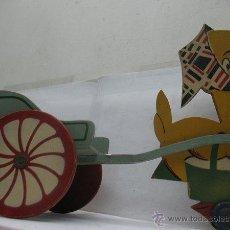 Juguetes antiguos y Juegos de colección: DENIA - JUGUETE DE ARRASTRE DE PATO CON CARRO. Lote 117549408