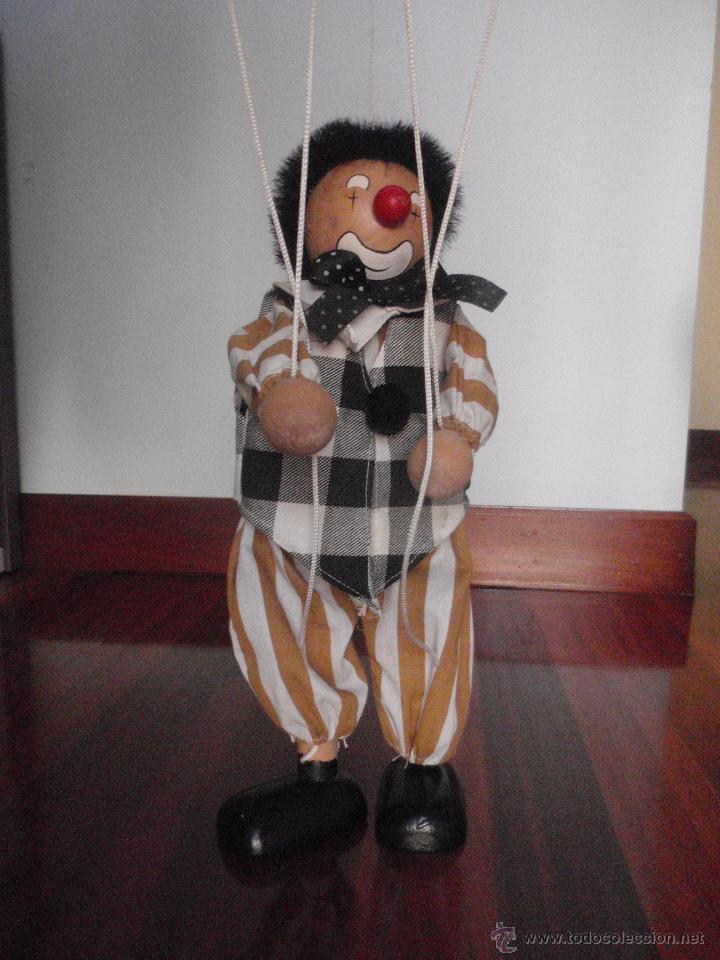 Juguetes antiguos y Juegos de colección: Marioneta de madera, payaso. De cinco hilos - Foto 2 - 51063325