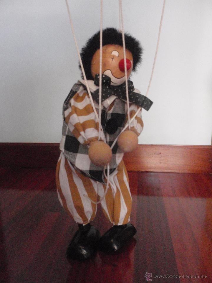 Juguetes antiguos y Juegos de colección: Marioneta de madera, payaso. De cinco hilos - Foto 3 - 51063325