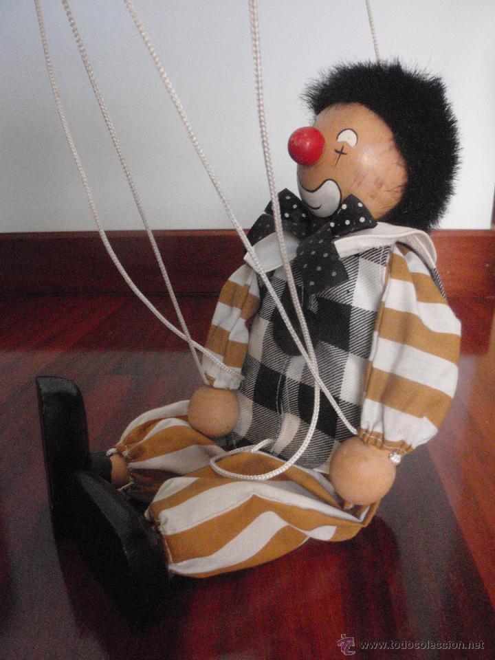 Juguetes antiguos y Juegos de colección: Marioneta de madera, payaso. De cinco hilos - Foto 4 - 51063325