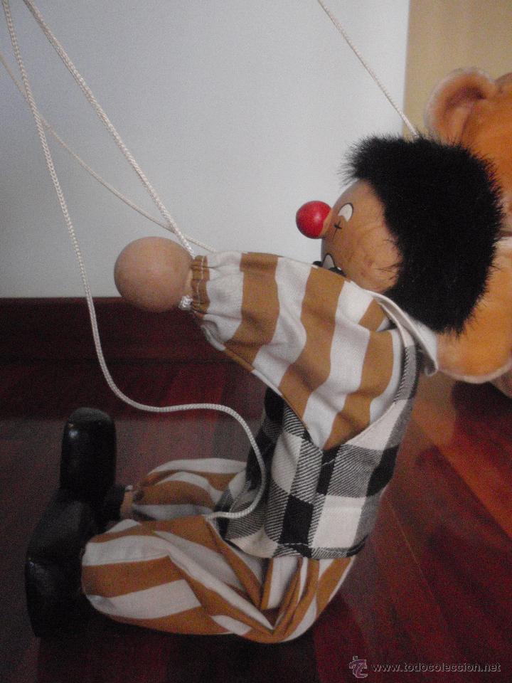 Juguetes antiguos y Juegos de colección: Marioneta de madera, payaso. De cinco hilos - Foto 5 - 51063325
