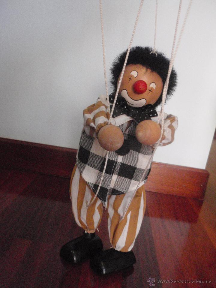 Juguetes antiguos y Juegos de colección: Marioneta de madera, payaso. De cinco hilos - Foto 6 - 51063325
