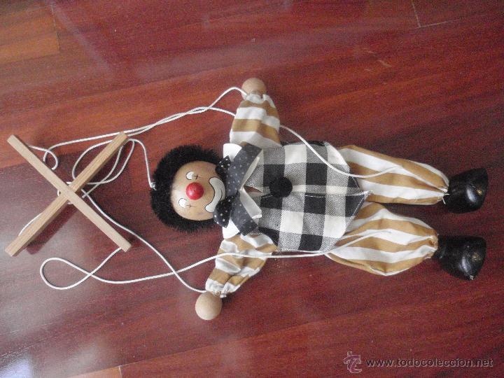 Juguetes antiguos y Juegos de colección: Marioneta de madera, payaso. De cinco hilos - Foto 7 - 51063325