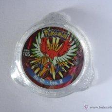 Juguetes antiguos y Juegos de colección: COLECCIÓN TAZOS PANINI NINTENDO POKÉMON KRAKS TAZO CAPS POGS KRAK 105 HO-OH - EVO. 0. Lote 227079015