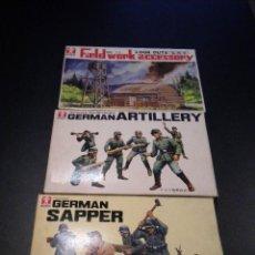 Juguetes antiguos y Juegos de colección: BANDAI 3 LOTES / GERMAN ARTILLERY - GERMAN SAPPER - FIELDWORK ACCESORY. Lote 51145620