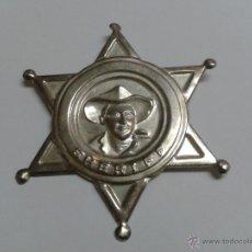 Juguetes antiguos y Juegos de colección: ESTRELLA SHERIFF METAL AÑOS 70. Lote 51218936