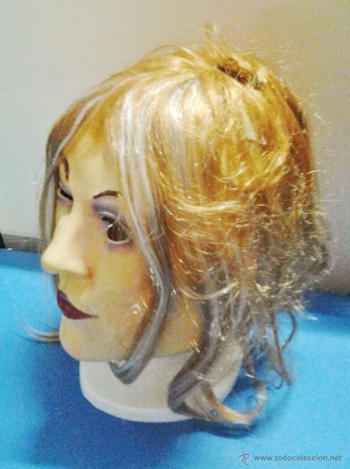 Juguetes antiguos y Juegos de colección: carnaval / halloween - careta con pelo - hombre / mujer / travesti - goma / latex - sin estrenar - Foto 2 - 51257246