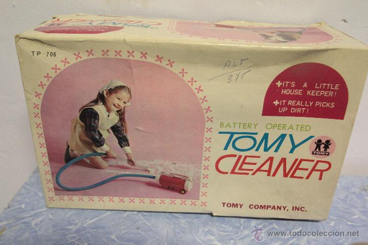 Juguetes antiguos y Juegos de colección: Antigua aspiradora de juguete, Tomy Cleaner, con caja - Foto 8 - 51394587