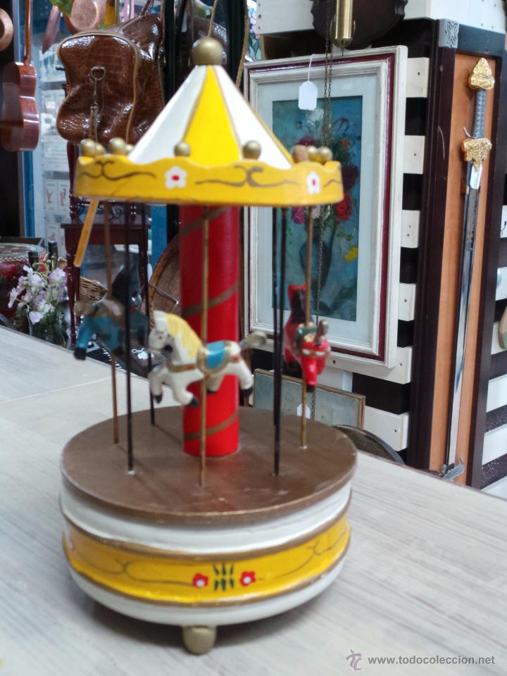 Carrusel Caballitos Bonito Tio Vivo Madera En Con 7yfgY6vb