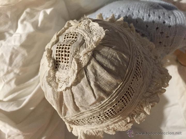 Juguetes antiguos y Juegos de colección: Antiguo y precioso gorrito de bebé - Foto 4 - 51452648