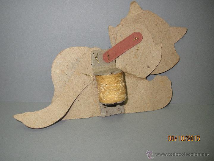 Juguetes antiguos y Juegos de colección: Antiguo Juguete *GATO CON MOVIMIENTO* de Cartón Litografiado con Fuelle Muelle Impulsor año 1940-50s - Foto 4 - 207040585