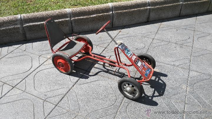 antiguo coche kart a pedales para nios aos juguetes varios