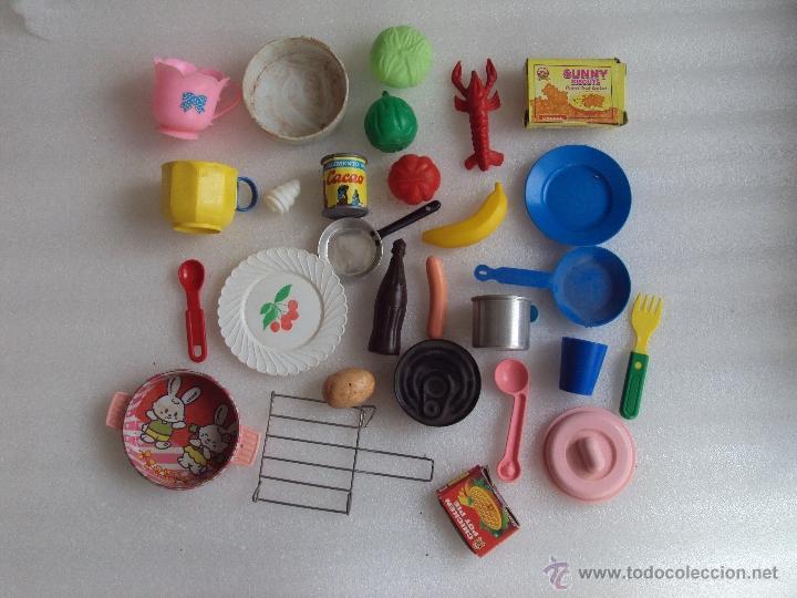 Lote de 28 piezas cocinitas de plastico carton comprar for Cocinitas de juguete segunda mano