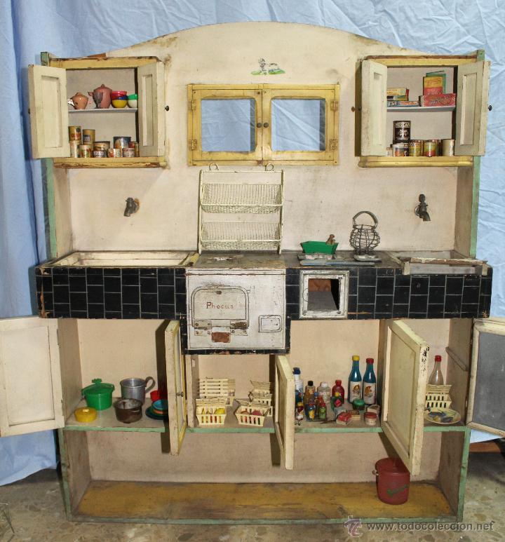 Antigua cocina de madera con accesorios comprar en for Cocina juguete segunda mano