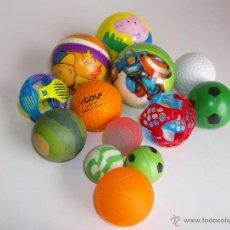 Juguetes antiguos y Juegos de colección: LOTE 13 PELOTAS COLORES Y TAMAÑOS VARIOS. Lote 52124450