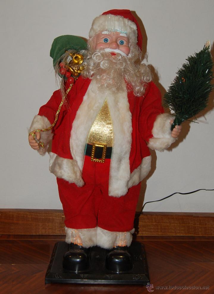 Imagenes De Papanoel En Movimiento.Adorno De Navidad Papa Noel Musical Luminoso Y Vendido En