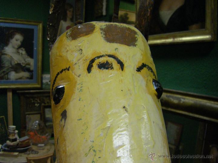 Juguetes antiguos y Juegos de colección: Jirafa de un tiovivo de los años 50 - Foto 6 - 53385407