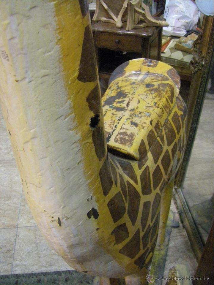 Juguetes antiguos y Juegos de colección: Jirafa de un tiovivo de los años 50 - Foto 7 - 53385407