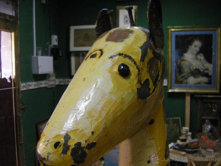 Juguetes antiguos y Juegos de colección: Jirafa de un tiovivo de los años 50 - Foto 8 - 53385407