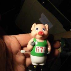 Juguetes antiguos y Juegos de colección - automata ATLETA a cuerda cerdito juguete antiguo funciona perfecto en su bolsa - 53491963